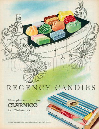 Regency Candies Advertisement, 1957.