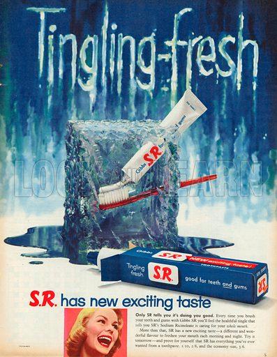 S.R. Toothpaste Advertisement, 1957.