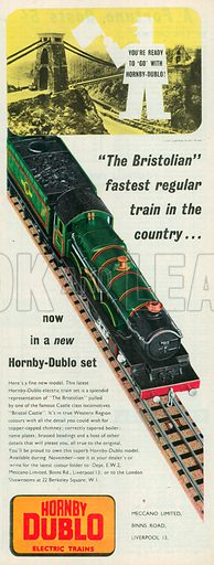 Hornby Dublo Electric Trains Advertisement, 1957.