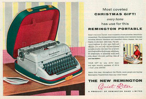 The New Remington Advertisement, 1957.