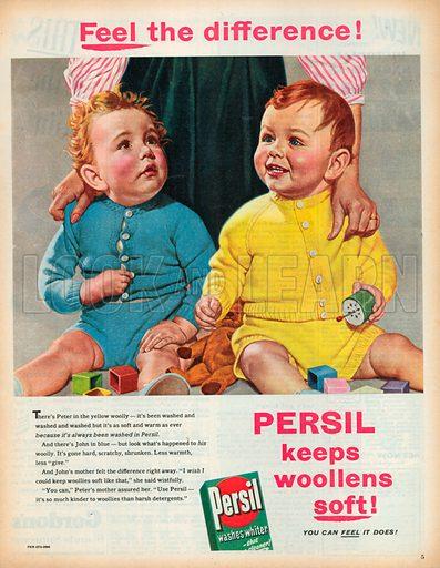 Persil Washes Whiter Advertisement, 1957.