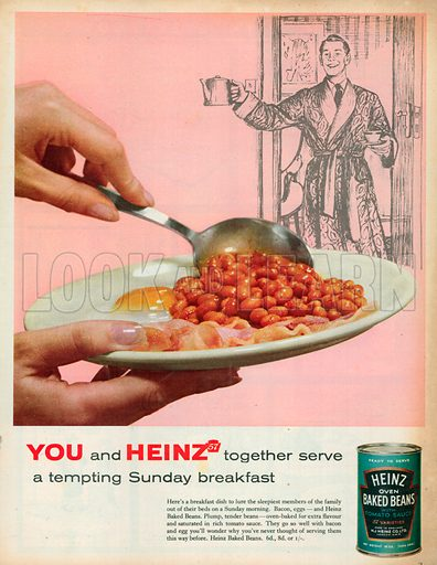 picture, advert, Heinz baked beans