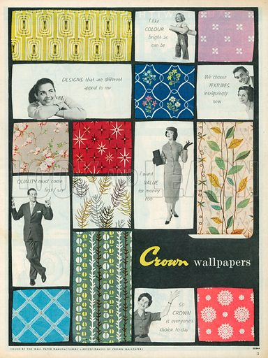 Crown Wallpapers Advertisement, 1957.