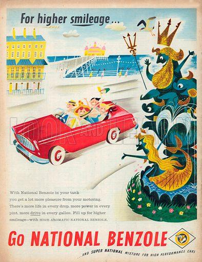 National Benzole Advertisement, 1957.