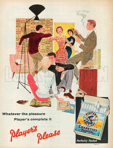 Player's Navy Cut Cigarettes Advertisement, 1957.