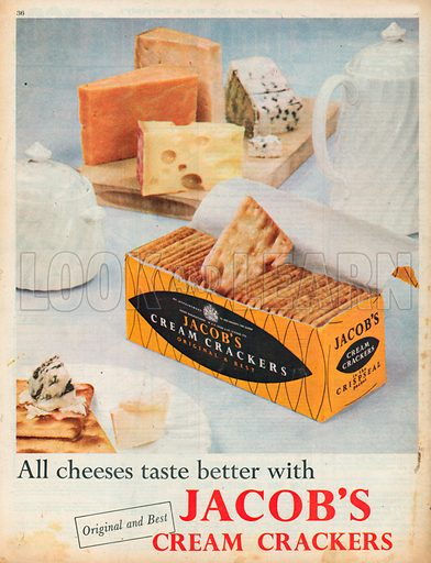 Jacob's Cream Crackers Advertisement, 1957.