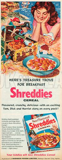 Shreddies Cereal Advertisement, 1957.