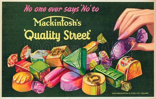 Mackintosh's Quality Street Advertisement, 1954.