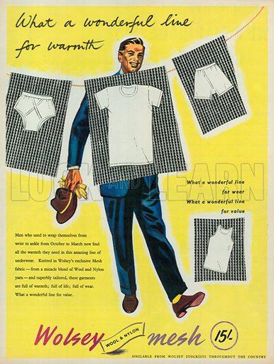 Wolsey Mesh Advertisement, 1954.