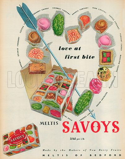 Meltis Savoys Advertisment, 1954.