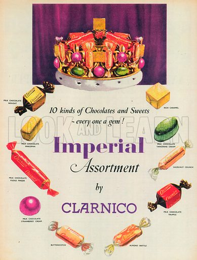 Imperial Assortment Advertisement, 1954.