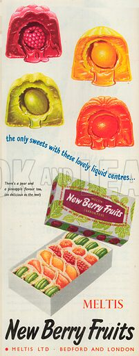 New Berry Fruits Advertisement, 1954.