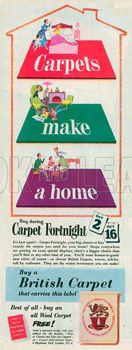 British Carpet Advertisement, 1954.