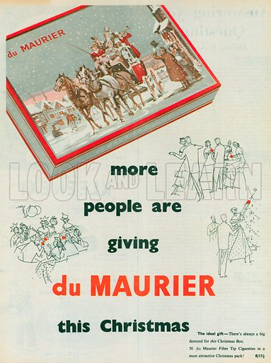 Du Maurier Advertisement, 1954.