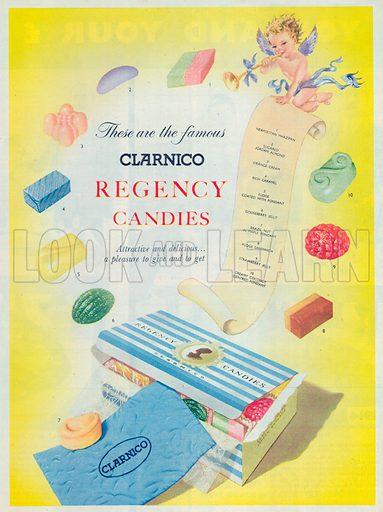 Clarnico Regency Candies Advertisement, 1954.