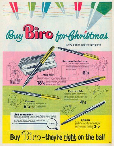 Biro Advertisement, 1954.