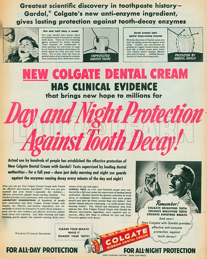 Colgate Ribbon Dental Cream Advertisement, 1954.