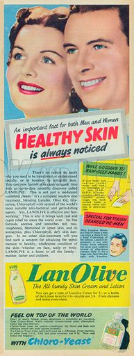 Lan Olive Advertisement, 1954.