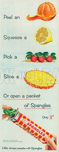 Mint Spangles Advertisement, 1954.