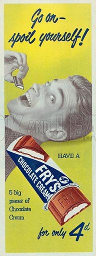 Fry's Chocolate Cream Advertisement, 1954.