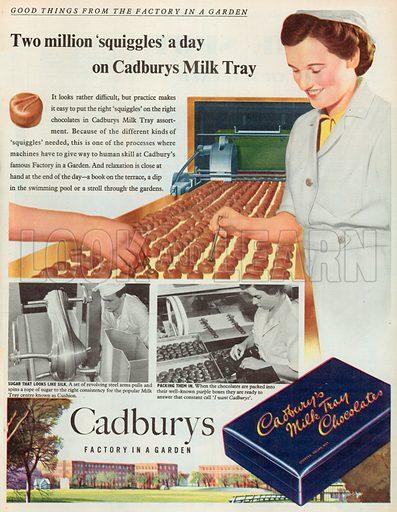 Cadbury's Dairy Milk Chocolate Advertisement, 1954.