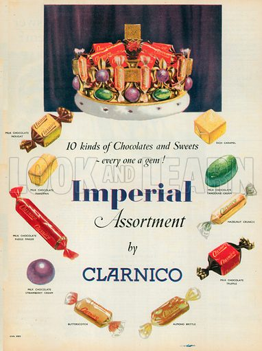 Imperial Assortment Advertisement, 1954.