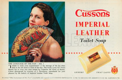 Cussons Imperial Leather Advertisement, 1954.