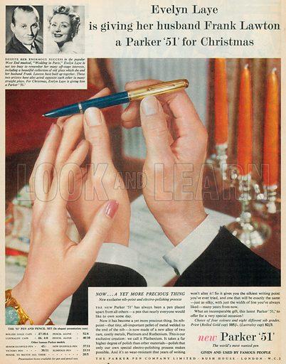 Parker '51' Advertisement, 1954.