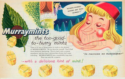 Murraymints Advertisement, 1954.