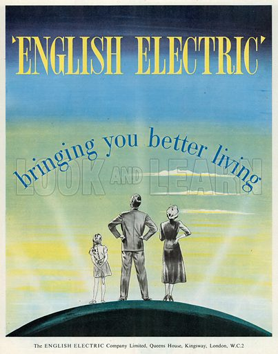 English Electric Advertisement, 1954.