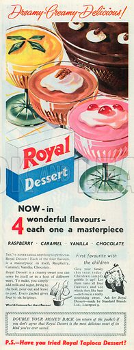 Royal Dessert Advertisement, 1954.