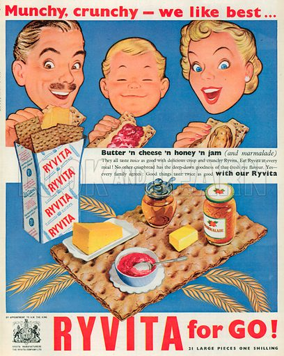 Ryvita Advertisement, 1954.