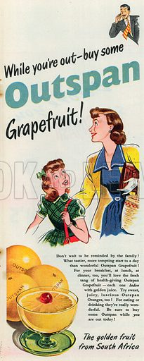 Outspan Advertisement, 1951.