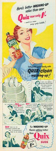 Quix Suds Advertisement, 1954.