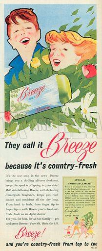 Breeze Soap Advertisement, 1954.