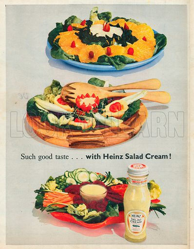 Heinz Salad Cream Advertisement, 1954.