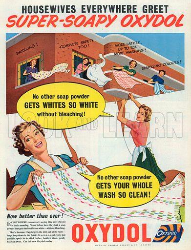 Oxydol Soap Advertisement, 1954.