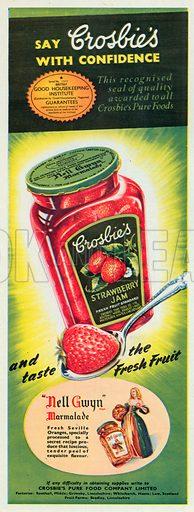 Croslie's Strawberry Jam Advertisement, 1954.