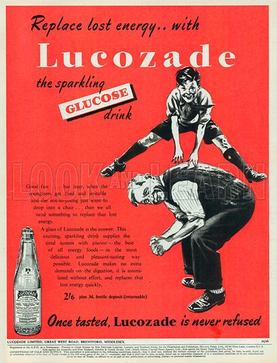 Lucozade Glucose Advertisement, 1951.