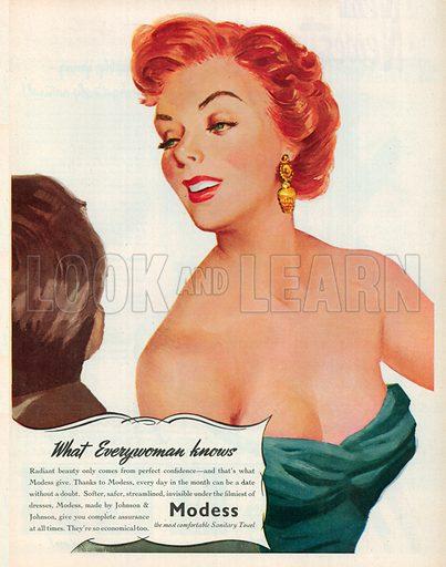 Modess Advertisement, 1951.
