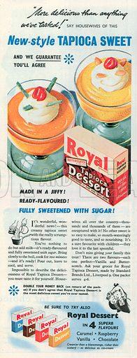Royal Dessert Advertisement, 1951.