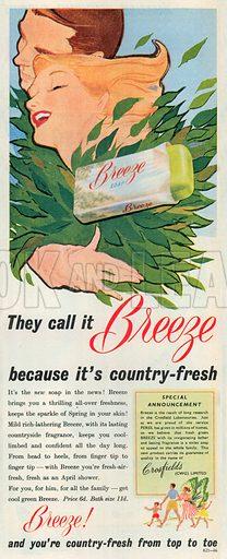 Breeze Soap Advertisement, 1951.