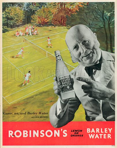 Robinson's Lemon Barley Water Advertisement, 1951.