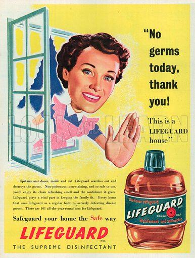 Lifeguard Advertisement, 1951.