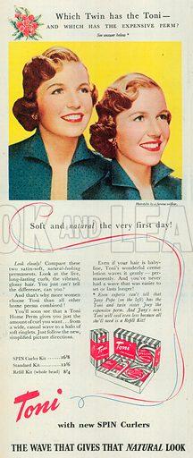 Toni Advertisement, 1951.