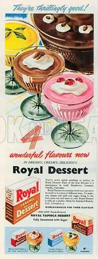 Royal Dessert Advertisement, 1951.