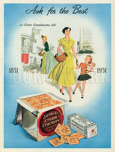 Jacob & Co's Cream Crackers Advertisement, 1951.