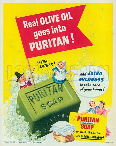 Puritan Soap Advertisement, 1951.