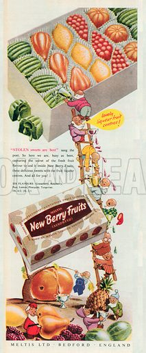 Meltis New Berry Fruits Advertisment, 1951.