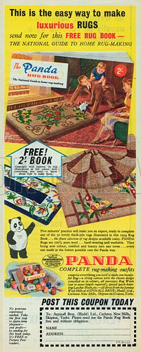 The Panda Rug Book Advertisement, 1955.